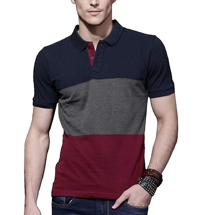 FashCloud Plain Blue Anthra Maroon Half Sleeve Polo T Shirt for Men