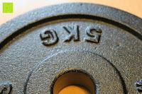 Gewicht: 1 Kurzhantel Hantelstange + 2 Hantelscheiben aus 100% Gusseisen / Sternverschluss / in 1,25kg 2,5kg 5kg oder 10kg / 30mm Bohrung / Mattschwarz / In unterschiedlichen Varianten