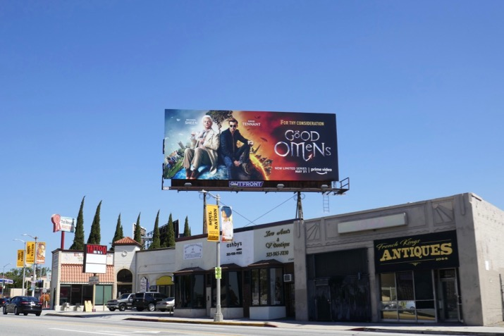 Good Omens series premiere billboard