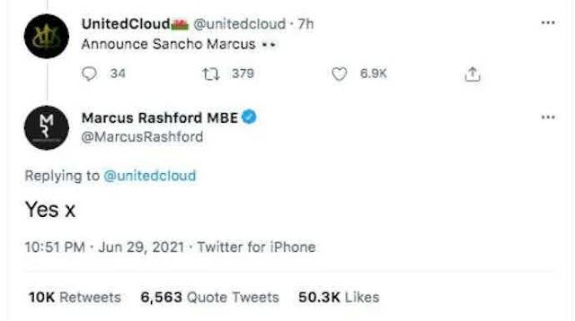 Rashford Umumkan Kepindahan Sacho ke United ?