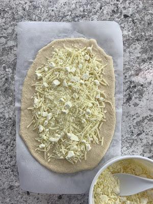 Georgian Cheese Bread (Adjaruli Khachapuri) with Broccoli