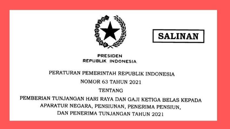 PP No 63 Tahun 2021