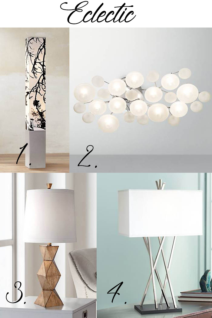 How to find the right lamp for your style gina michele bloglovin possini euro lilypad etched 30 wide ceiling light fixture 3 olga dark gold geometric column table lamp 4 possini euro design asymmetry table lamp aloadofball Image collections
