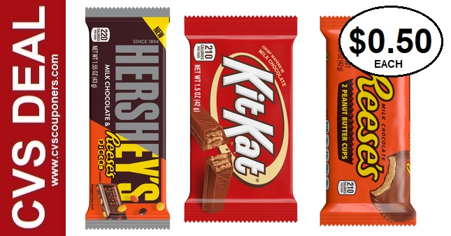 Cheap Hershey's Candy Bar Singles at CVS