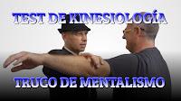 Test de kinesiología. Truco de mentalismo para venta.