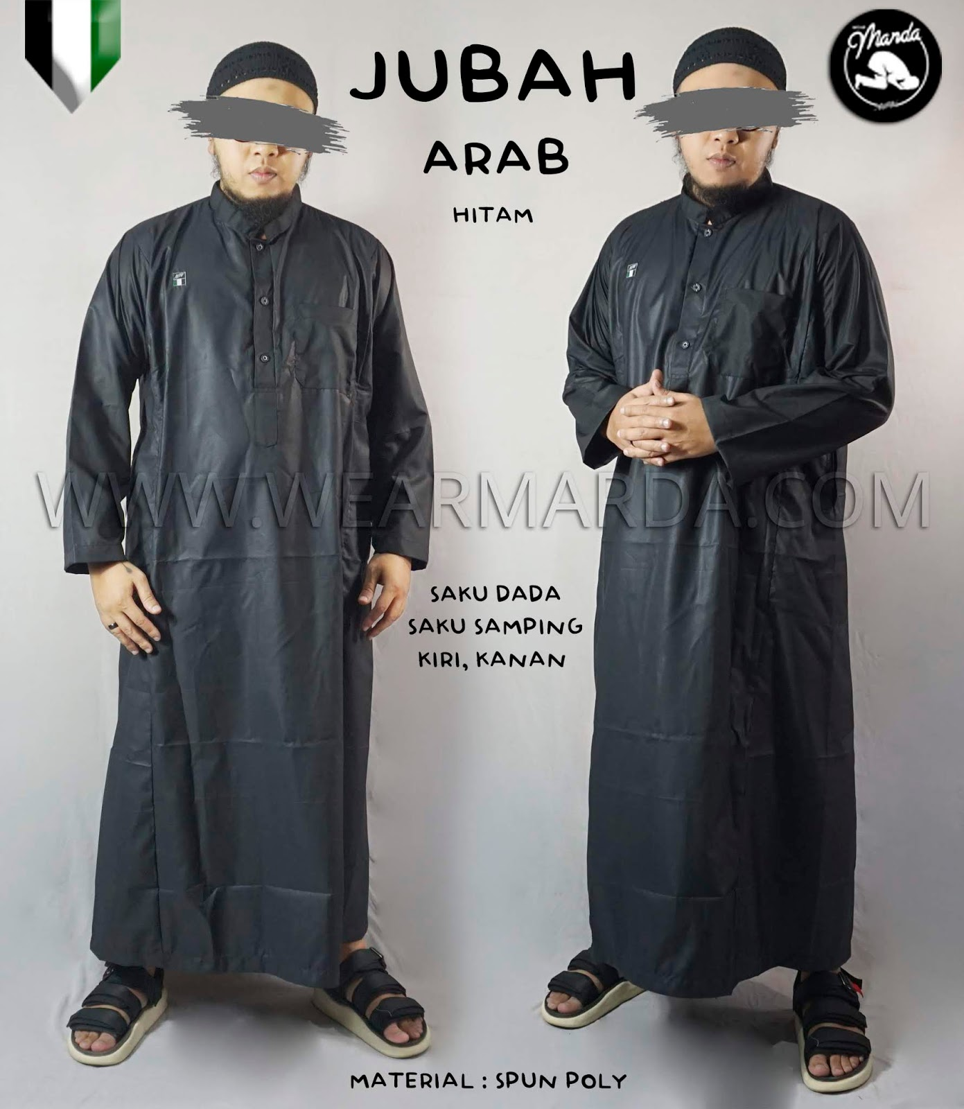 JUBAH ARAB HITAM
