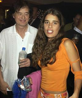 Jimena Gomez Paratcha with her celebrity ex-husband Jimmy Page