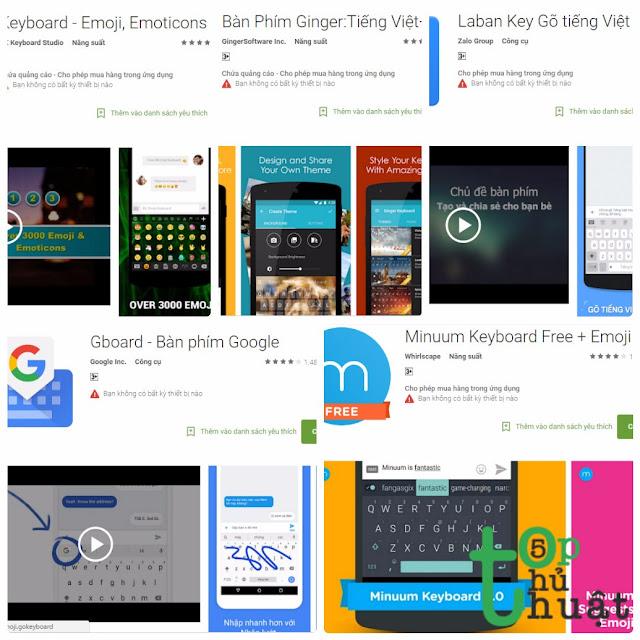 Top 5 ứng dụng bàn phím cực thú vị cho điện thoại Android
