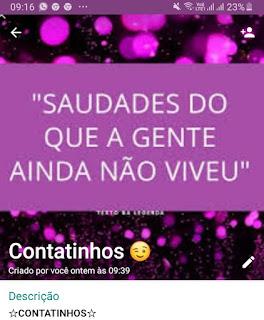 CONTATINHOS -Grupo do WhatsApp