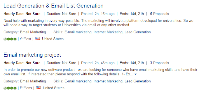 Finding email marketing job freelance sites