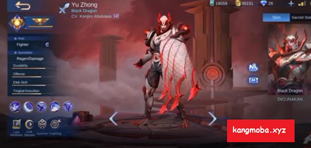 Script Skin Collector Yu Zhong Blood Serpent Full Effect Mobile Legends