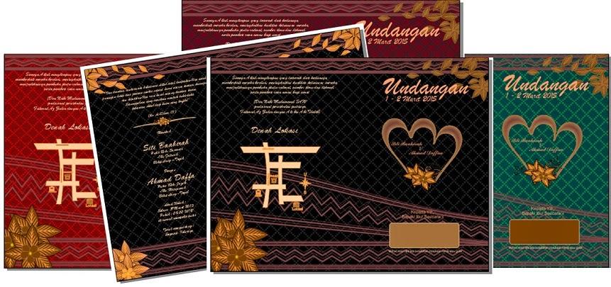 Desain Undangan Batik Hitam