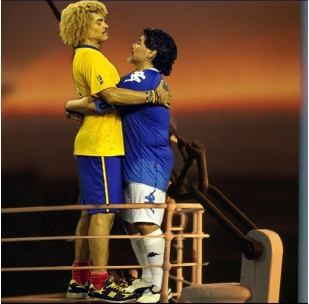 El reencuentro más emotivo entre Maradona y Valderrama