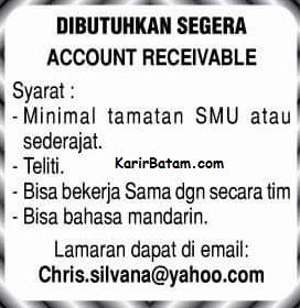 Lowongan Kerja Account Receivable Batam