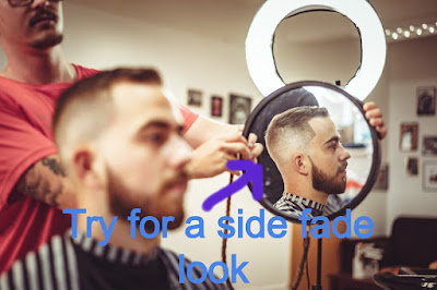 side fade look is best for curly hair style for man and can be carried out for curly hair man cut