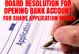 Board-Resolution-Opening-Bank-Account-Share-Application-Money
