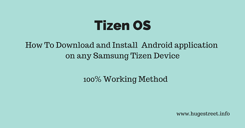 install android app apk on samsung tizen os device
