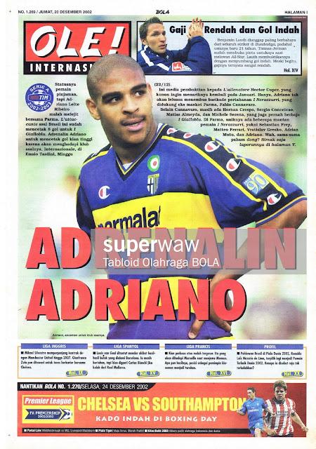 OLE! INTERNASIONAL: ADRENALIN ADRIANO PARMA