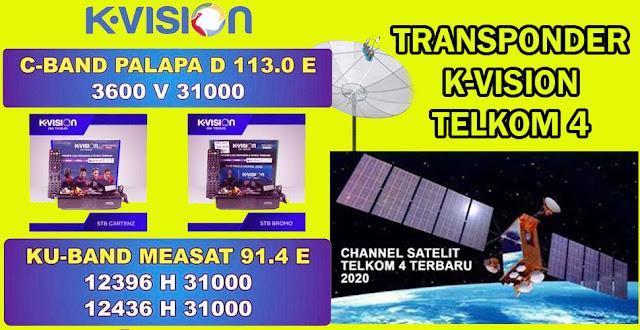Transponder Frekuensi TP Channel Telkom 4 K-Vision C-Band 1 juli 2020.jpg