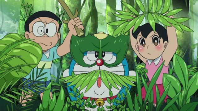 Doraemon Nobita and Shizuka In jungle Fun HD Wallpapers