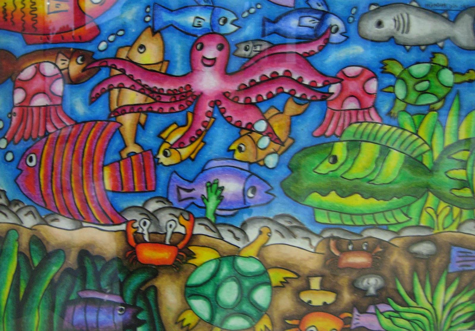 Kehidupan Laut Lukisan Brad Erva Doce Info