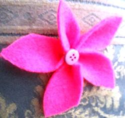 Cara Tercepat Membentuk Bunga dari kain Perca - Flanel