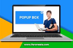 Cara membuat popup box keren pada blogspot