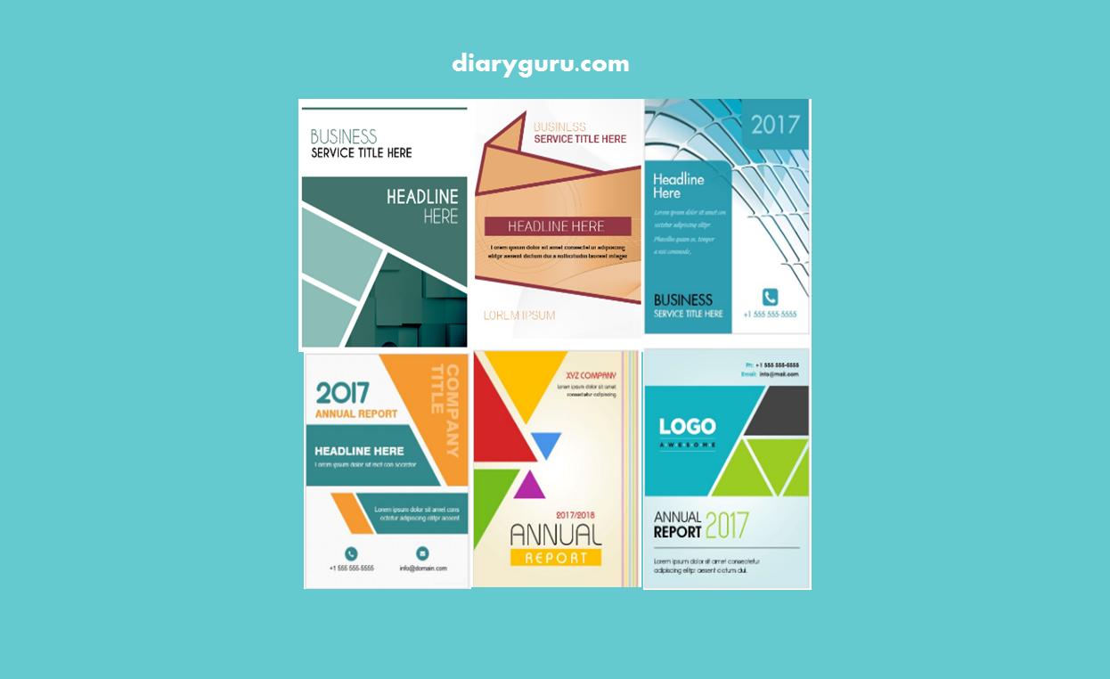 Download Template Cover Buku Format Word Diary Guru