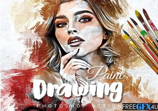 Drawing Paint Photoshop Action