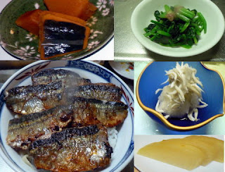 夕食の献立 献立レシピ 飽きない献立 サンマの蒲焼丼セット ホウレン草とシラスおろし