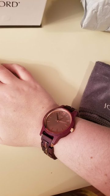 My new JORD watch: the Frankie Purpleheart & Lavender
