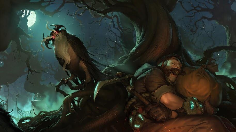 Stygian Onlooker, Shadow Isles, Legends of Runeterra, 4K, #5.2710