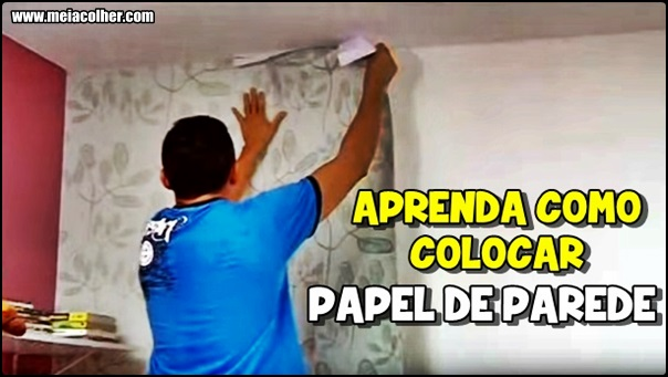 colocando papel de parede