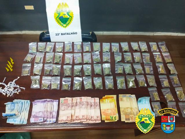 Três homens são presos traficando drogas no Ana Terra em Colombo