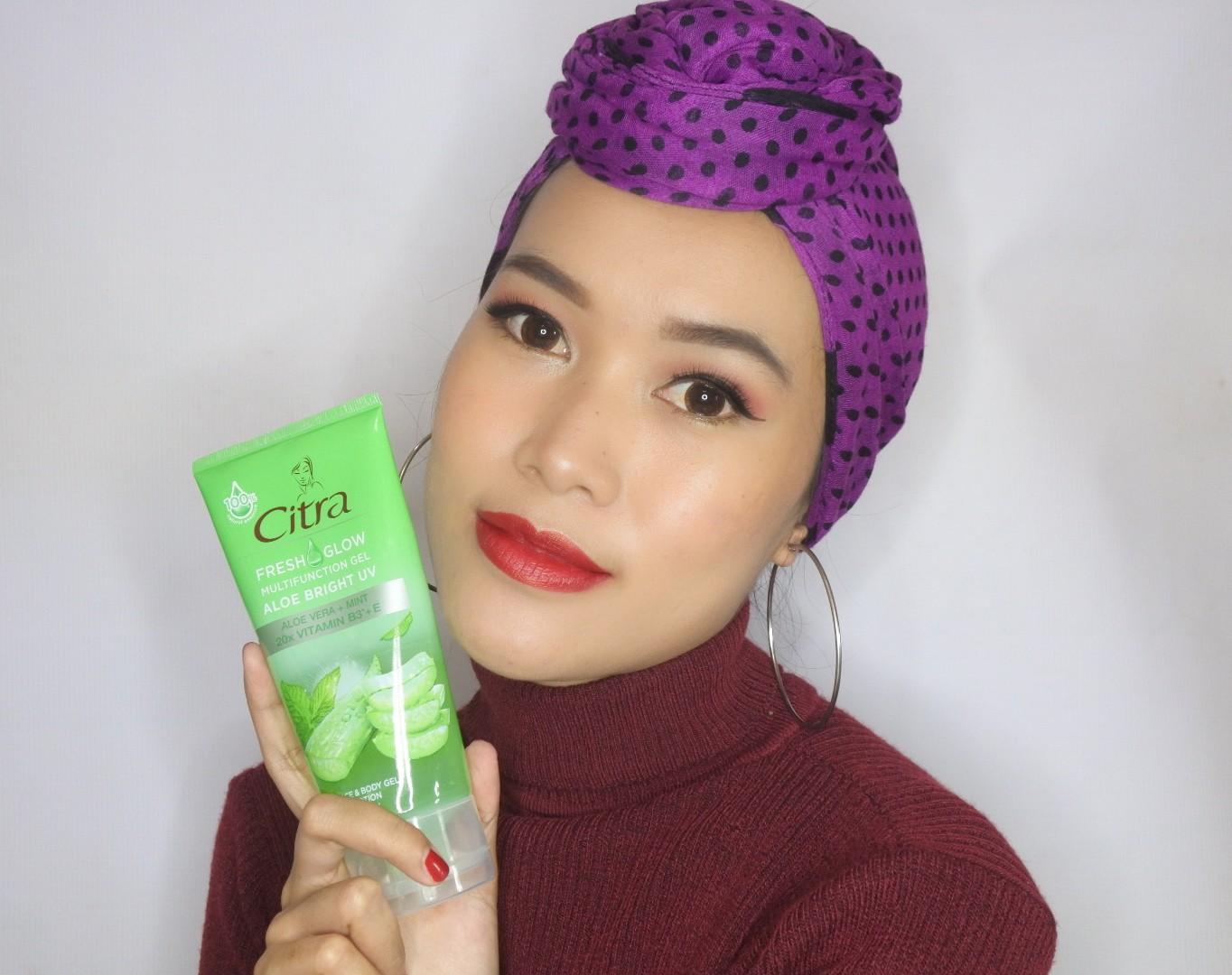 Citra Fresh Glow Multifunction Gel Aloe Bright Uv Daretochange By Indonesian Beauty Blogger