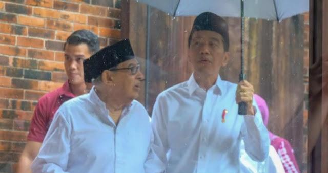 Jokowi Bertemu Quraish Shihab Bahas Islam Moderat