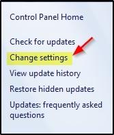 Change setting