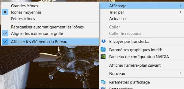 Comment masquer les icônes sous Windows 10