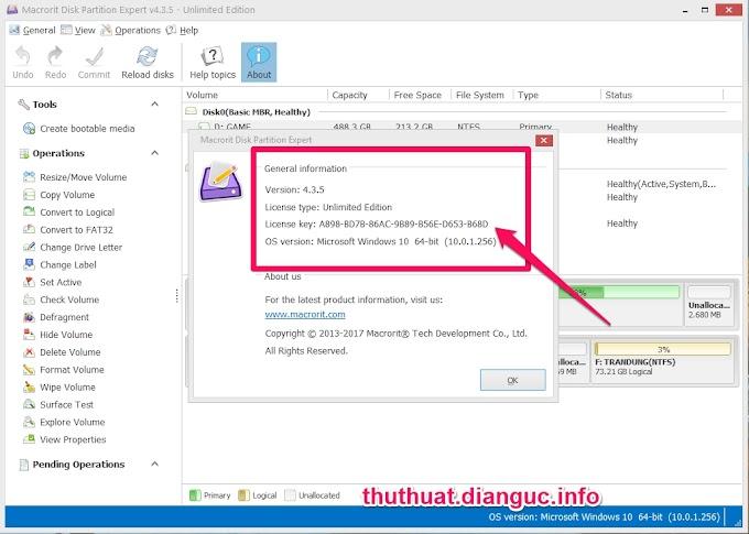 Download Macrorit Disk Partition Expert 4.3.5 Unlimited Full Key – Phân vùng ổ cứng