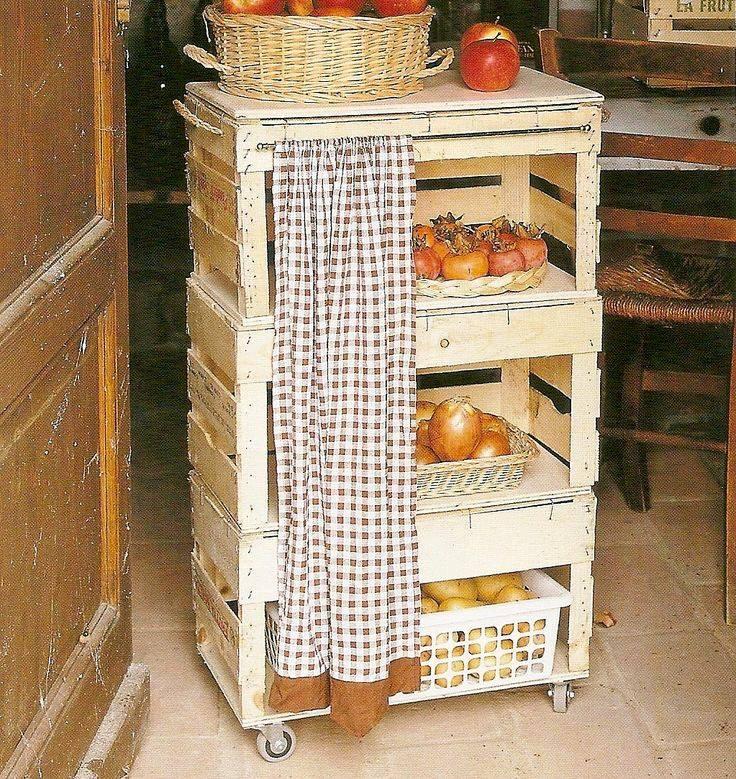 Reutiliza cajas rejas cajones de madera - Ideas para reciclar muebles ...