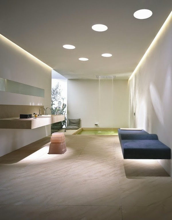Minimalist Bathroom Suspended Ceiling And Lighting Ideas For Working Areas