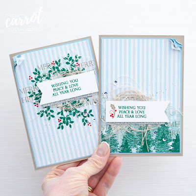 Merry Christmas to All + Rooted In Nature from Stampin' Up! - Susan Wong, The Crafty Carrot Co.