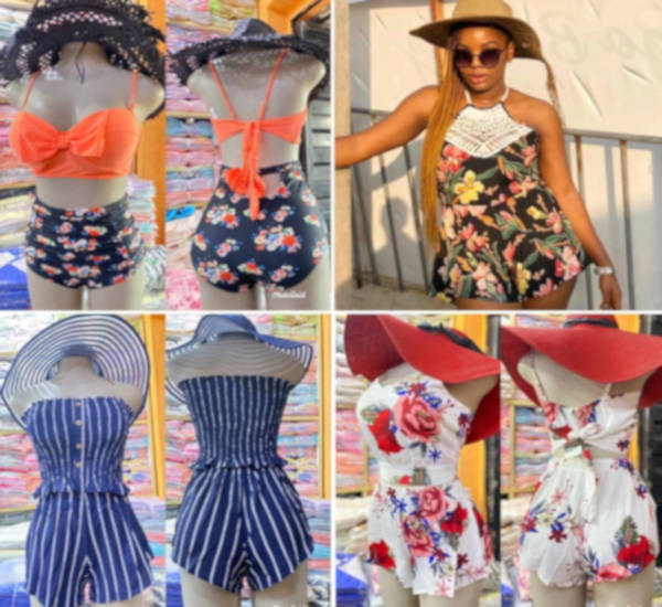 Beach wears and hats