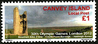 Canvey Local Post London Olympics 2012 Stamp