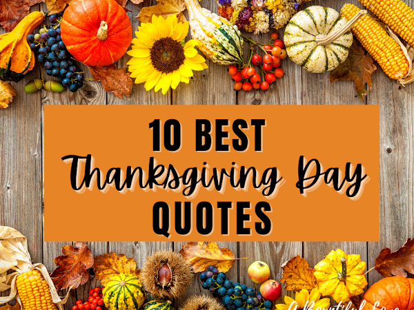 10 Best Thanksgiving Quotes
