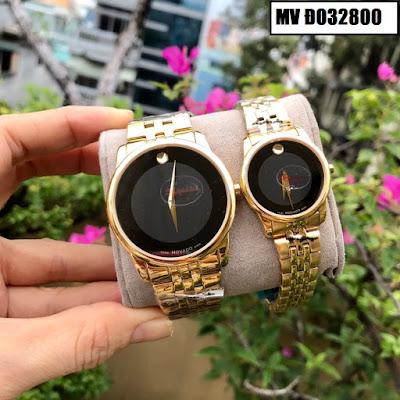 Đồng hồ cặp đôi màu vàng Movado MV Đ032800