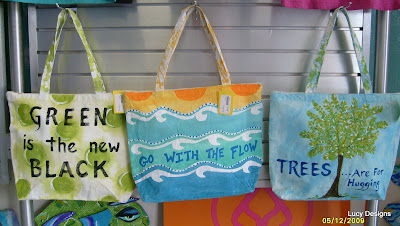 DIY painted beach bags