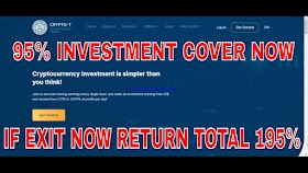CRYPTO-T LATEST PAYMENT PROOF 95% INVESTMENT COVER OR 195 % RETURN IF EXIT NOW JUST EARN 2020