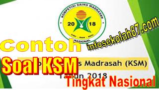 Contoh Soal Dan Kunci Jawaban KSM IPA MI 2020