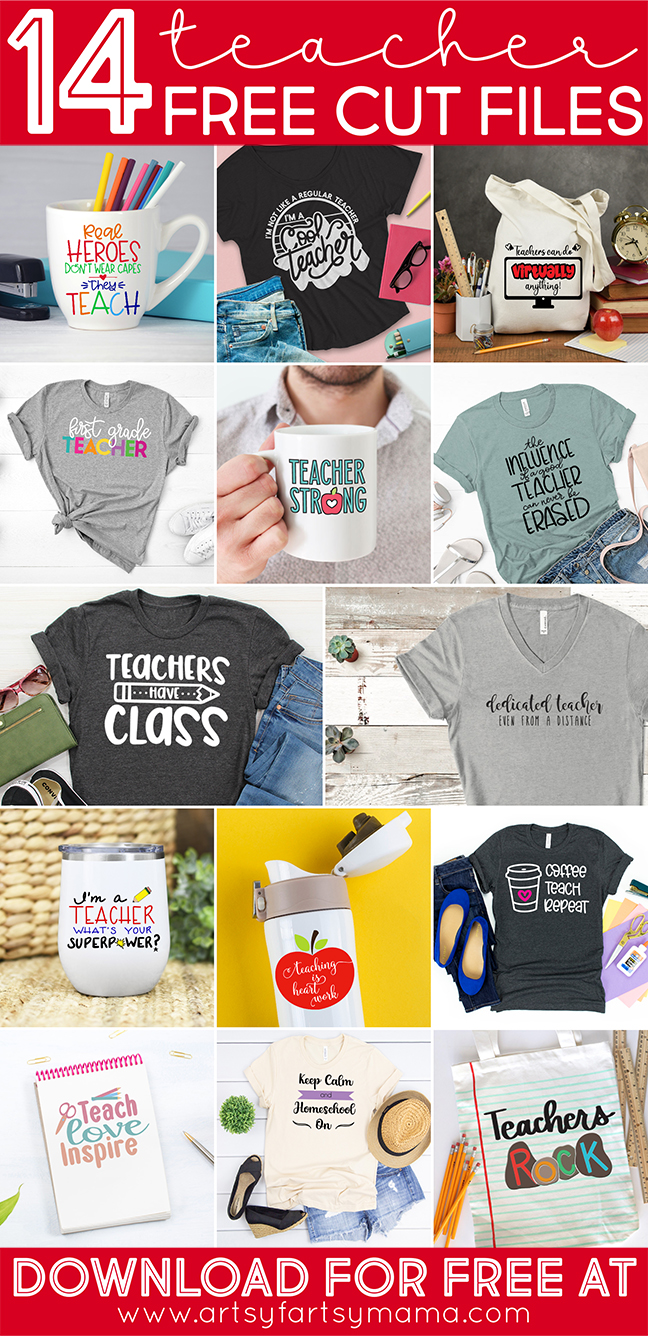 14 Free Teacher Appreciation Cut Files